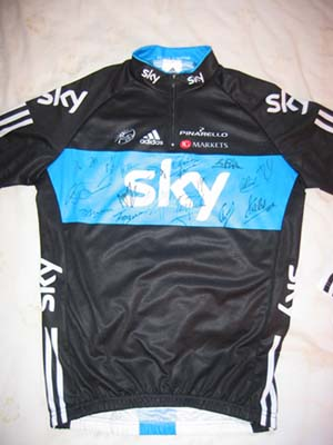 Team Sky cycling team signed Jersey
